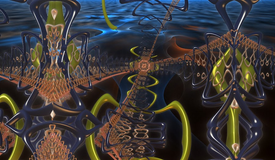 A Delicate Design by Rick Eskridge - Illustration Abstract & Patterns ( jwildfire, abstarct, mb3d, fractal, twisted brush )