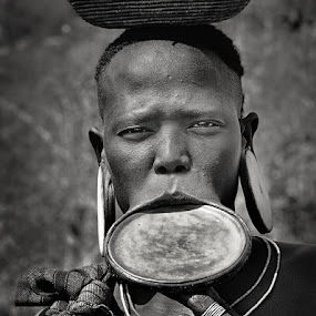 Mursi woman by Izidor Gasperlin - People Street & Candids