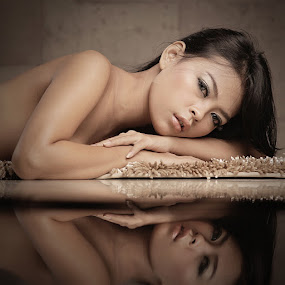 Moment of Reflection by Lucky E. Santoso - People Portraits of Women