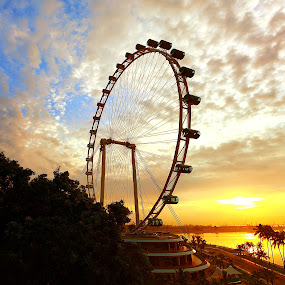 Singapore Flyer by Alit  Apriyana - Landscapes Travel