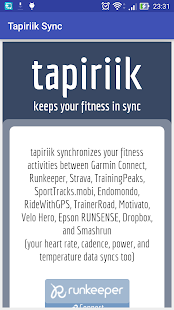 Tapiriik Sync - screenshot