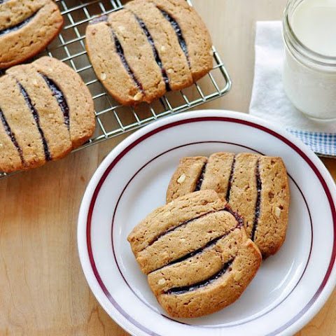 Peanut Butter and Jelly Icebox Cookies