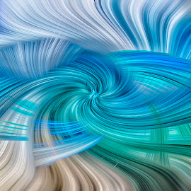 Water view by Tammy Scott - Illustration Abstract & Patterns ( photoshop art, blue, photo manipulation, white, teal, photoshop )