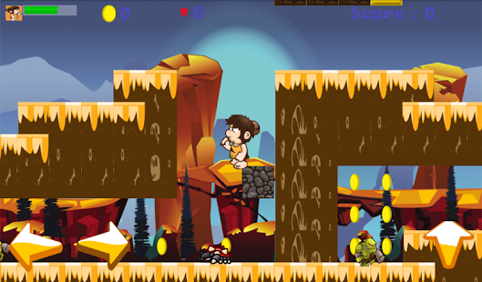 Baby Caveman run - screenshot