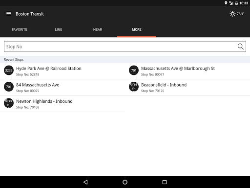 Boston Transit: MBTA Tracker - screenshot