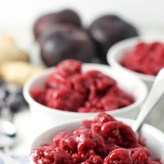 Plum Blueberry Ginger Granita