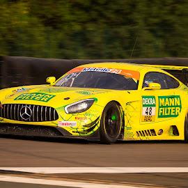 Mercedes AMG GT3 by Jürgen Mayer - Sports & Fitness Motorsports ( motorsport, auto, racing, race, gelb, car, mercedes, rennen, yellow, sport )