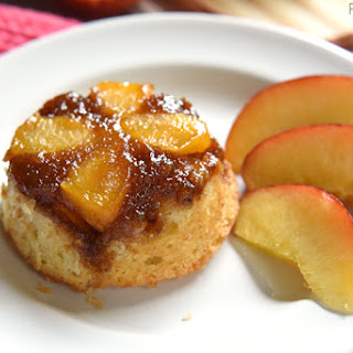 Peach Upside-Down Cupcakes