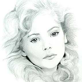 Daisy by Irma Mason - Drawing All Drawing ( pencil, child, and white, face, girl, art, lady, beauty, black, portrait, drawing )