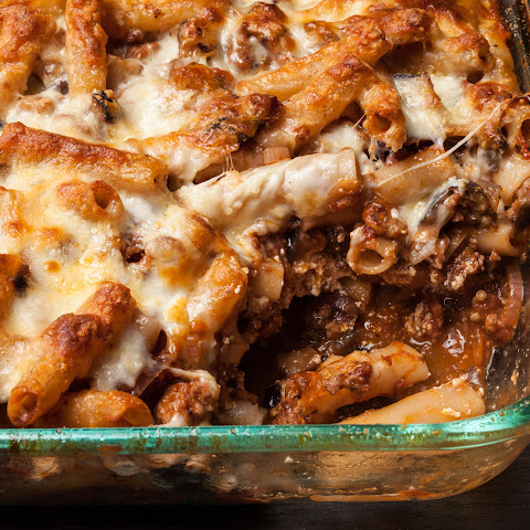 Baked Ziti with Sausage, Eggplant, and Ricotta