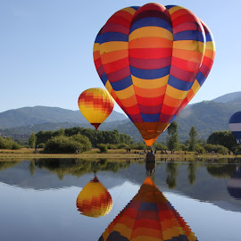 by Bill Dickson - Transportation Other ( balloons, reflections, festival, water )