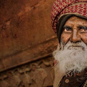 away in silence! by Rajarshi Mitra - People Street & Candids ( muslim, face, old, grunge, indian, senior citizen, people, man )