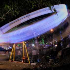 Small Spinning wheel for kids by Diliban P - Abstract Light Painting ( light, wheel, shutter, festival, night, park )