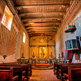 Mission San Miguel, Inside Church by David Hammond - Buildings & Architecture Places of Worship ( san miguel, church, mission, buildings, historical, architecture, worship,  )