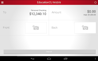 Screenshot of EducationCU Mobile