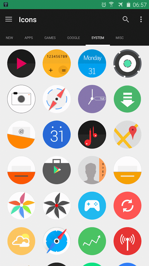 Ncept-Android N icon pack Screenshot 4