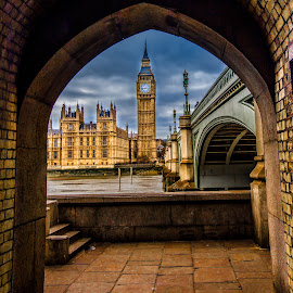 Big Ben by Aamir DreamPix - Buildings & Architecture Bridges & Suspended Structures ( underpass, building, uk, architechture, clock tower, clock, architectural detail, architecture, rivers, clocks, architect, england, riverside, buildings, architectural, bridge, big ben, bridges, river )