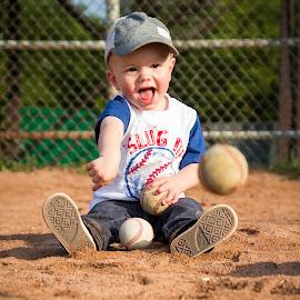SLUGGER by Meghan Gilmore - Babies & Children Children Candids ( #two #boy #summer #baseball #throw #slugger, KidsOfSummer )