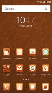 Leather Theme for Fly Launcher - screenshot