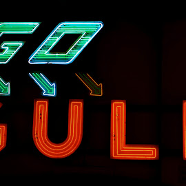 Go Gulf Sign by Pat Lasley - Artistic Objects Signs ( sign, neon sign, gas station, neon, gulf gasoline,  )