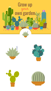 Green Floral Cactus Stickers - screenshot