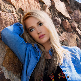 Outdoor Kind Of Girl by Kathy Suttles - People Portraits of Women ( jeans on, blonde, country girl, portrait )