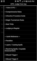 Screenshot of MTG Judge Core App