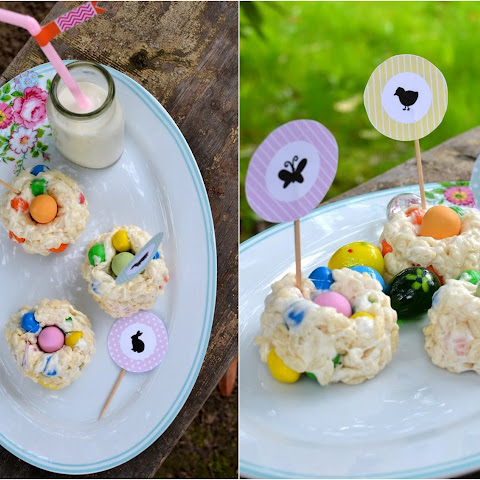 Marshmallowy Rice Krispies Nests