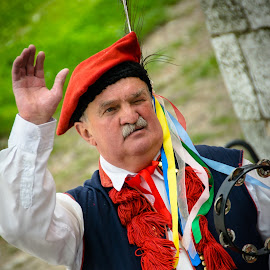Man in Traditional Polish Costume by Darrell Portz - People Musicians & Entertainers ( traditional costume, europe, krakow, man, poland )