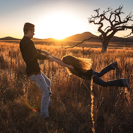 by Kathy Suttles - People Street & Candids ( sunset fun, suttleimpressions, lone tree, roots & wings, lil sister, oklahoma, big brother, praire view, wmwr, take  a twirl, family fun )