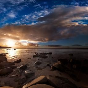 Sunset by Greg Tennant - Landscapes Sunsets & Sunrises ( ocean, rocks, cloudscape,  )