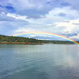 End of the Rainbow by Penny Vinson - Landscapes Weather ( pot of gold, rainbow, smith lake )