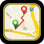 Driving Route Finder Icon
