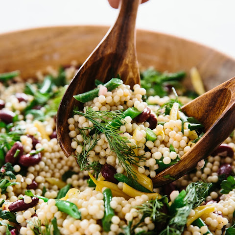3-Bean Israeli Couscous Salad