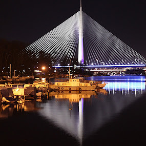 by Sonja Cvorovic - Buildings & Architecture Bridges & Suspended Structures ( pwcbridges, night, lights )