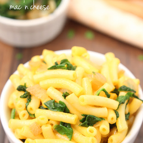 Spinach & Caramelized Onion Mac 'n Cheese