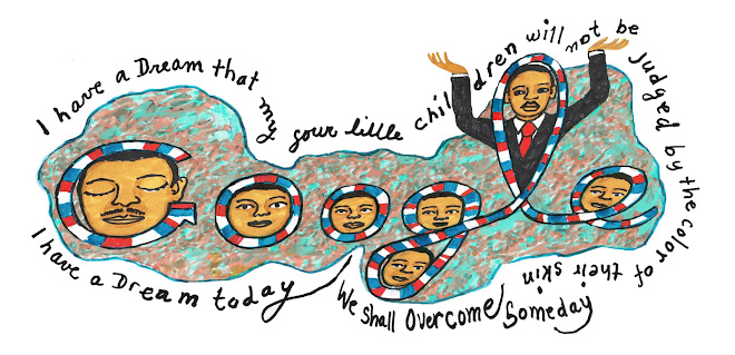 Dr. Martin Luther King Day 2012 by Faith Ringgold