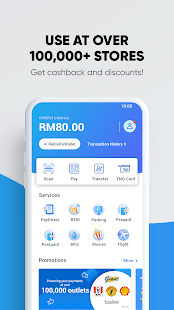 Touch 'n Go eWallet -Pay Tolls, Food & Be Rewarded for pc