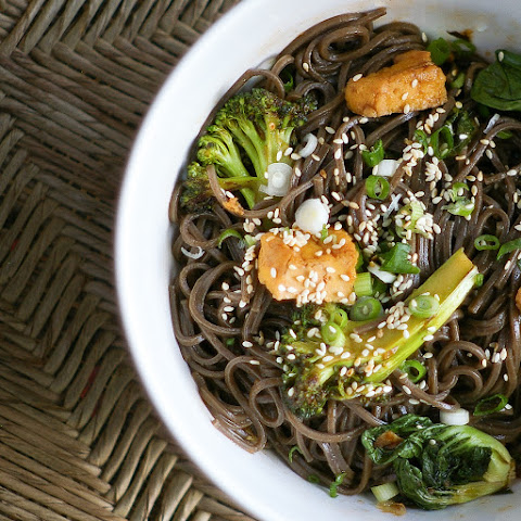 Spicy Buckwheat Soba with Tofu