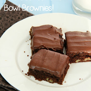 The Best Easy One Bowl Brownie Recipe Ever!