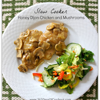 Recipe for Slow Cooker Honey Dijon Chicken and Mushrooms