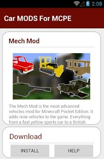 9 Car MODS For MCPE App screenshot