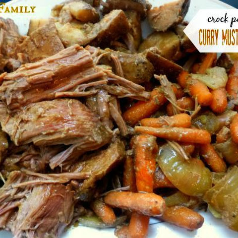 Crock Pot Curry Mustard Beef Roast