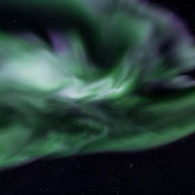 aurora daffy duck by Benny Høynes - Abstract Patterns ( winter, green, northern lights, aurora borealis, norway )