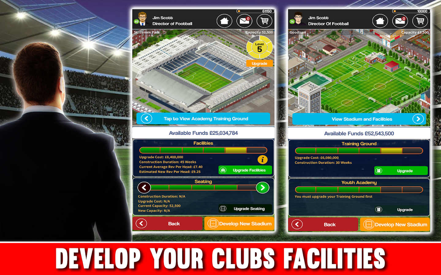 Club Soccer Director - Soccer Club Manager Sim Screenshot 2