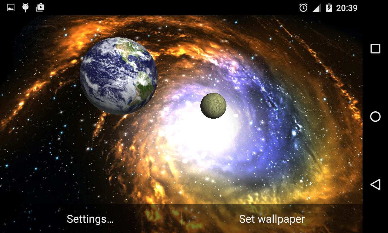 3D Galaxy Live Wallpaper Full Screenshot 6