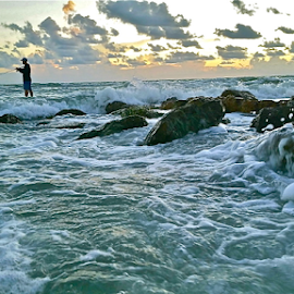 { Fishing The Gulf ~ 87 degree's Today }  by Jeffrey Lee - Landscapes Beaches ( { fishing the gulf ~ 87 degree's today } )