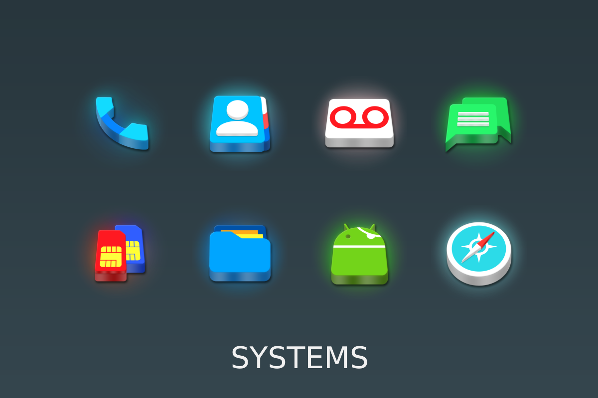LED 3D Icon Pack Screenshot 14