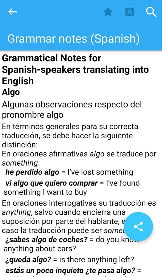 Oxford Spanish Dictionary Screenshot 4