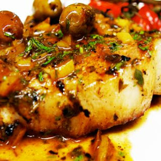 Pork Chops With Green Olives And Lemon